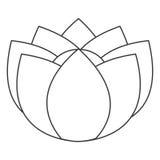 Flower icon. Simple black line nine petal flower icon  illustration Royalty Free Stock Images