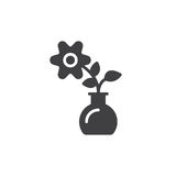 Flower icon vector, filled flat sign. Solid pictogram isolated on white. Home plant symbol, logo illustration. Pixel perfect vector graphics Stock Photography