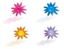 Flower icons Stock Photos