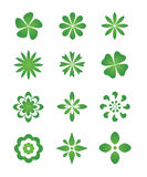 Flower icons Royalty Free Stock Photos
