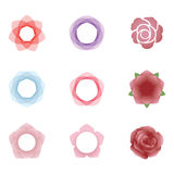 Flower icons. 9 beautiful and unique flower icon graphic royalty free illustration