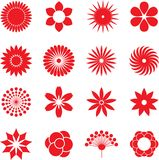 Flower icons. Flower icon collection - vector illustration Stock Photography