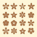 Flower Icons for Pattern Royalty Free Stock Photography