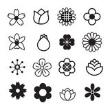 Flower icons Royalty Free Stock Images