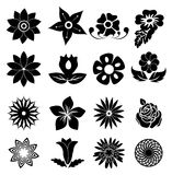 Flower icons set Stock Images