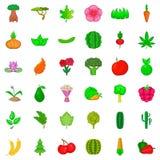 Flower icons set, cartoon style. Flower icons set. Cartoon style of 36 flower vector icons for web  on white background Royalty Free Stock Image