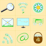 Flower Icons. Set for computer royalty free illustration