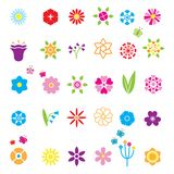 Flower Icons Set Royalty Free Stock Photos
