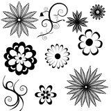 Flower icons a Stock Images