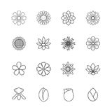 Flower Icons Vector Stock Photo