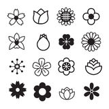 Flower icons Stock Photos
