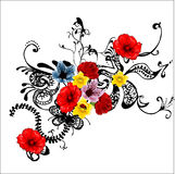 Flower illustration. Abstract, diferent  flower illustration design Royalty Free Stock Photos