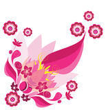 Flower illustration. Abstract pink flower illustration background Stock Image
