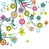Flower illustration. Abstract colorful flower illustration background Stock Photography