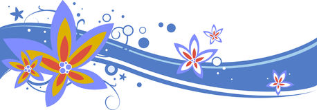 Flower illustration. Colorful flower illustration for web and print Royalty Free Stock Images