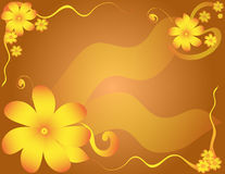 Flower Illustration. Space for copy over ribbon in center Royalty Free Stock Photo