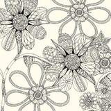 Flower illustration background Stock Image
