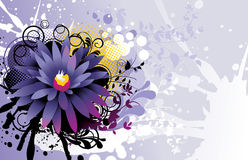 Flower  illustration composition Royalty Free Stock Photos