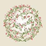 Flower Illustration, Floral Background - vector EPS10. Flower wreath vector illustration, floral background Stock Images
