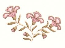 Flower Illustration In Pink Stock Photography