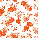 Flower illustration pattern Royalty Free Stock Image