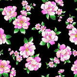 Flower illustration pattern Stock Image