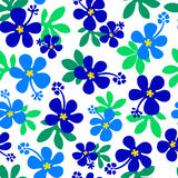 Flower illustration pattern Royalty Free Stock Photography