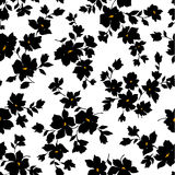 Flower illustration pattern Royalty Free Stock Photos