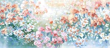 Flower Illustration pattern in simple background. Illustration flower in simple background. Banner, nature.Vintage Baroque Victorian frame border monogram floral vector illustration