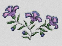 Flower Illustration in Purple Stock Photo