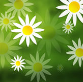Flower ilustration green nature yellow backgroun Stock Photo