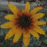 Flower image knit generated texture Royalty Free Stock Photography