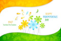 Flower on Indian Tricolor. Illustration of Indian tricolor flower for Independence Day Stock Image