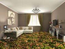 Flower interior stock illustration