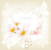Flower invitation card Stock Photos