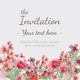 Flower invitation card Royalty Free Stock Image