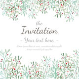 Flower Invitation Card Stock Image