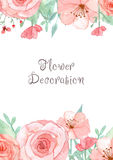 Flower Invitation Card Royalty Free Stock Photography