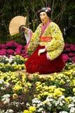 Flower japanese geisha  Royalty Free Stock Image