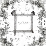 Flower and jewelry frame Royalty Free Stock Images