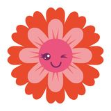 Flower kawaii cartoon cute petals Royalty Free Stock Photos