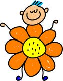 Flower kid Stock Photo