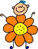 Flower kid royalty free illustration
