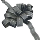 Flower knot of road ribbon Stock Photo