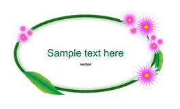 Flower label Royalty Free Stock Image