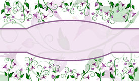 Flower label design Stock Photos