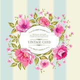 Flower label on the vintage card. Stock Photo