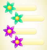 Flower Labels 02 Royalty Free Stock Photo