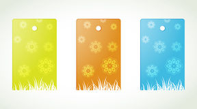 Flower labels Stock Images