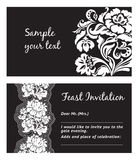Flower lace, greeting card Royalty Free Stock Photography